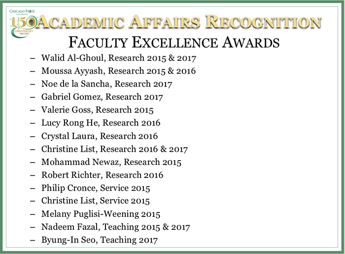 Faculty Excellence Awards