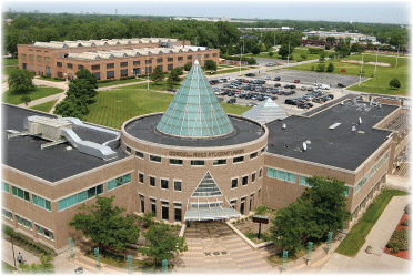 Bird eye view of  Student Union Building