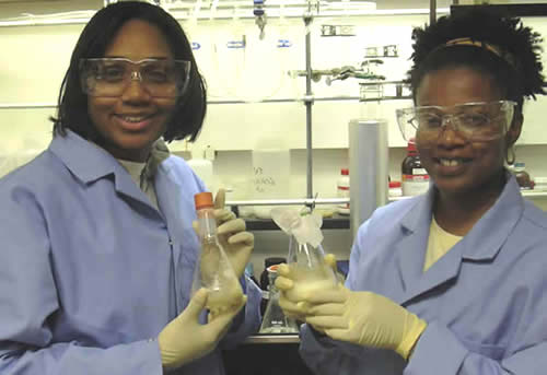Students working in Dr. Jones laboratory