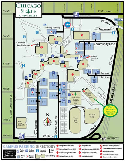Image of Chicago State University Map