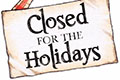 Closed For The Holiday Season