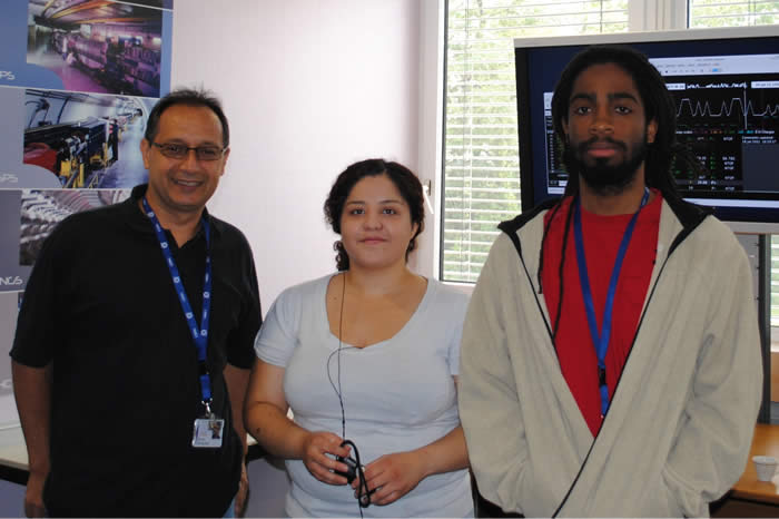 Dr. Garcia, Karen, and Chann at CERN