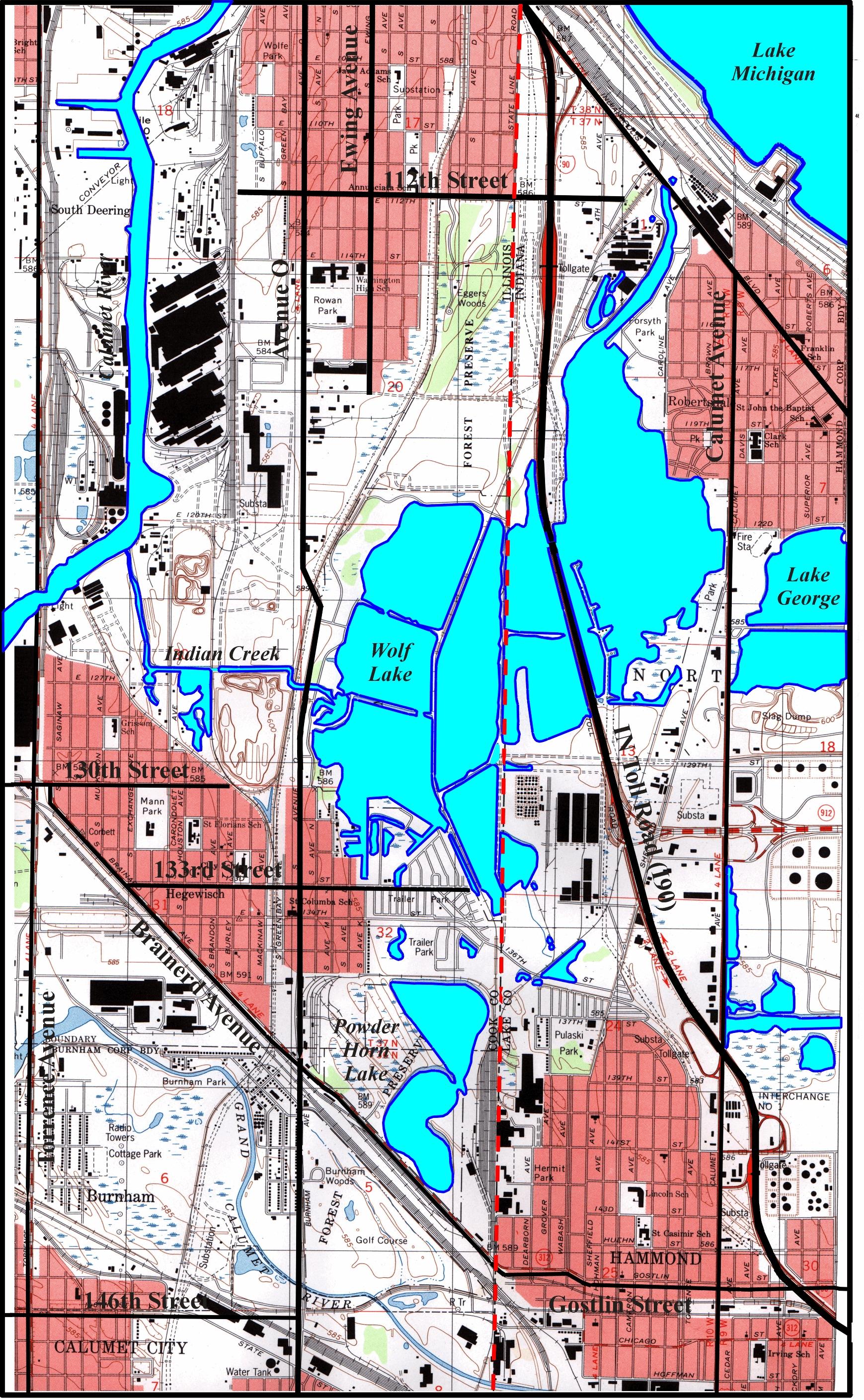 Illinois Wolf Lake Wolf Lake Environs Csu/cerc